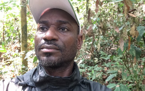 Samuel Nnah Ndobe in the forests of Cameroon he is working tirelessly to protect.